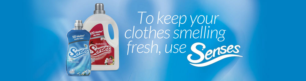 To keep your clothes smelling fresh use Senses